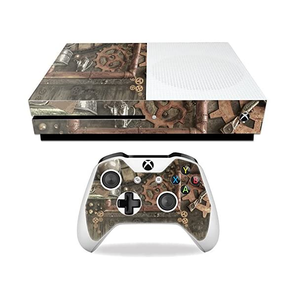 MightySkins Skin Compatible with Microsoft Xbox One S - Steam Punk Room | Protective, Durable, and Unique Vinyl Decal wrap Cover | Easy to Apply, Remove, and Change Styles | Made in The USA 3