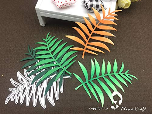 Best Quality - Cutting Dies - AlinaCraft Metal Cutting Dies Cut Hibiscus Leaf Spring Branch Punch Scrapbooking Paper Craft Card Album Knife Art cutterstencil - by BLUESKYUP - 1 PCs ()