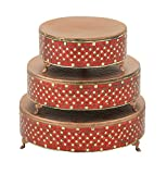 Deco 79 23978 Metal Mosaic Cake Stand (Set of 3), 12''/16''/18''