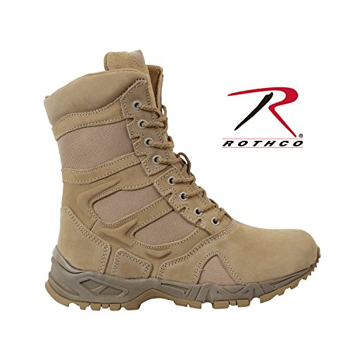Forced Entry Tactical Boot - Rothco Mens Boots - Tactical Forced Entry Side Zipper, Desert Tan, 12 2E US