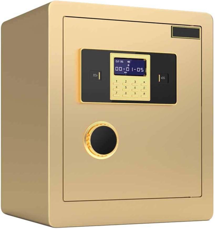 Caja fuerte cuadro de combinación de alta seguridad Caja de seguridad digital capacidades muy grandes para documentos de identidad guardar objetos de valor Gabinete caja fuerte para, documentos A4,Oro: Amazon.es: Hogar