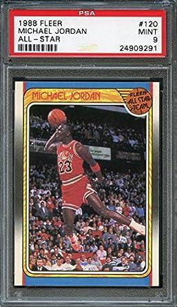 51313e2d427bd3 Amazon.com  Michael Jordan PSA GRADED 9 (OC) (Basketball Card) 1988 ...