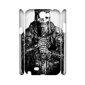 3D Skull Design Samsung Galaxy Note 2 Case White Yearinspace111361