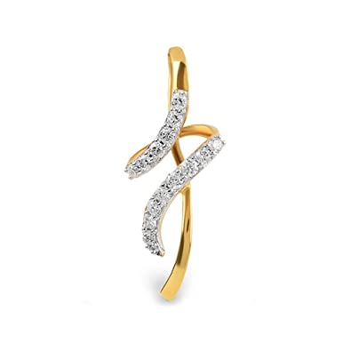 5bef8724724ff Buy ORRA 18k Yellow Gold and Diamond Pendant Online at Low Prices in ...