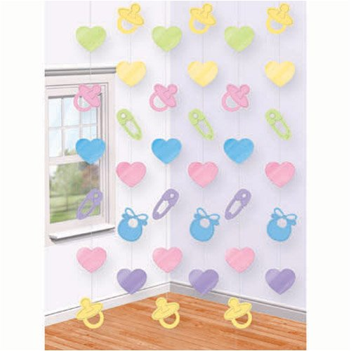 Amscan International Baby Shower Hanging String Decorations, Pack of 6 679662