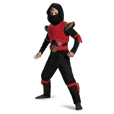 Disguise Red/Black Fire Ninja Deluxe Medium (7-8): Amazon.es ...