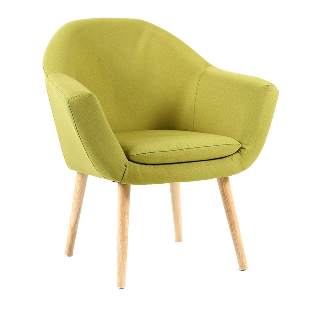 G Cotton and Linen Material Chair, Soft and Comfortable, Clean and Convenient, Living Room, Dining Chair, Coffee Bar, Lounge Chair, Computer Office Work Chair, Ergonomic Design, Handrail Thickening