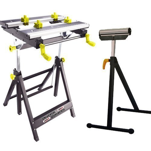 Banc de travail pliable Hauteur réglable Mate Workmate Supports DIY universel avec support à rouleau Arrows UK