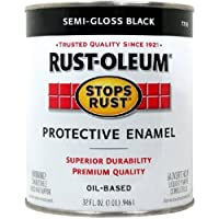 Rust-Oleum 7798502 Stops Rust, 32 oz. Quart, Semi Gloss Black by Rust-Oleum