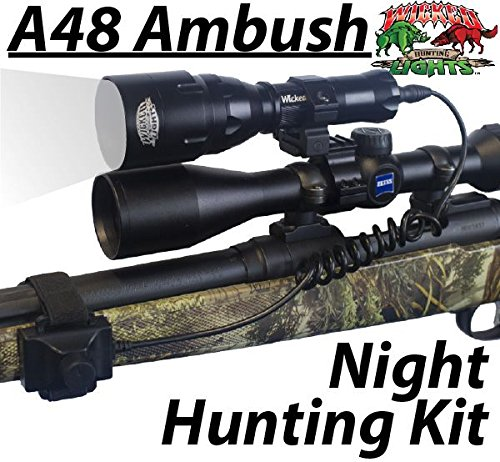 Wicked Lights A48IC Night Hunting Kit With WHITE Intensity Control LED for Predator, varmint & Hog complete White led light kit For Sale
