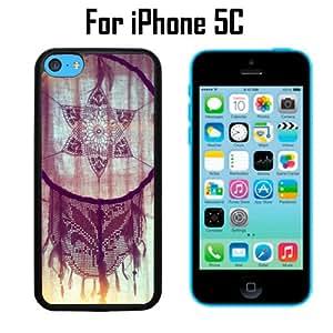 Beautiful Dream Catcher Vintage Dreams Custom Case/ Cover/Skin *NEW* Case for Apple iPhone 5C - Black - Plastic Case (Ships from CA) Custom Protective Case , Design Case-ATT Verizon T-mobile Sprint ,Friendly Packaging - Slim Case