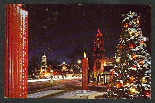 Yuletide Display J C Nichols Country Club Plaza Kansas City MO postcard -