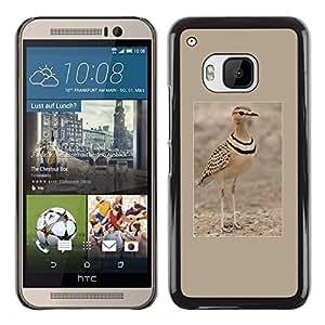 Caucho caso de Shell duro de la cubierta de accesorios de protección BY RAYDREAMMM - HTC One M9 - Bird Poster Brown Nature