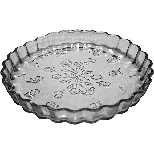 Flan Quiche - Savannah Floral Embossed Flan or Quiche Plate