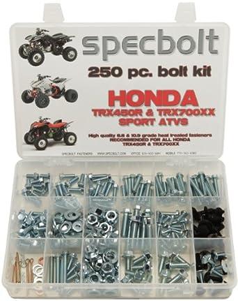 250pc Specbolt Honda TRX450R TRX450ER & TRX700XX Bolt Kit for Maintenance &  Restoration OEM Spec Fasteners Quad