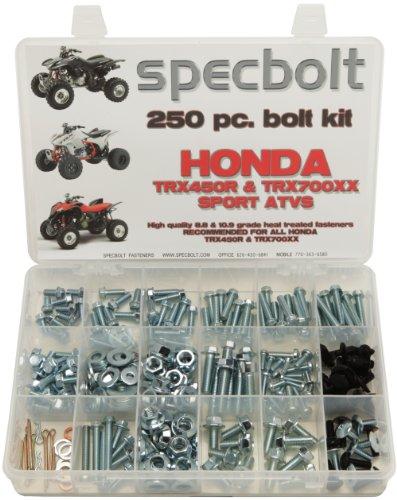 Specbolt Fasteners 250pc Maintenance Restoration OE Spec Motorcycle Bolt Kit for Honda TRX450R TRX450ER TRX700XX (Honda Trx450r Parts)