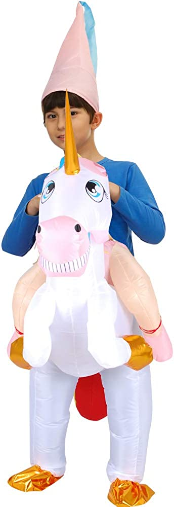 Hacosoon Adult//Kids Inflatable Alien//Unicorn//Flamingo//Pink-Pig//Shark Costume//Halloween Costume//Inflatable Party Costumes