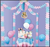 Baby Shower Party Canopy [6 Pieces] - Product Description - This Is A Beautiful Set-Up For Baby Shower Party. A Self Contained, Completely Assembled Decorating Unit, Attractively Packaged For Quick Retail Sale. Four 12' Leaf Garlands, One 12'' Ti ...