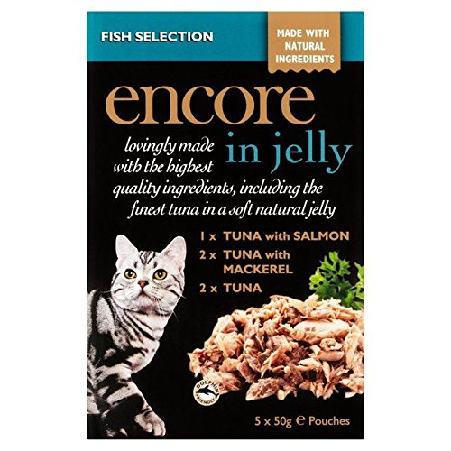 Encore Fish Selection Cat Pouch in Jelly 5 x 50g 70%OFF
