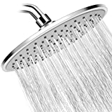 WarmSpray Rain Shower Head High Pressure with 9 Inch Thin Large Coverage Rainfall Shower Heads Spray Relaxation and ABS Engineering Marterial