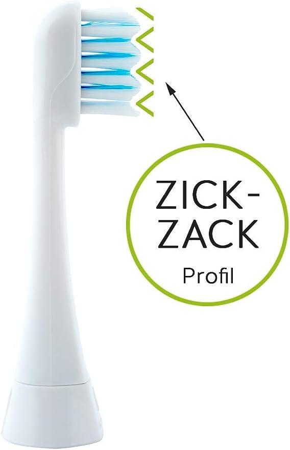 Megasonex - Cabezal para cepillo de dientes eléctrico (dureza media): Amazon.es: Salud y cuidado personal