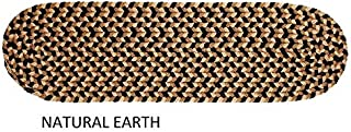 """product image for Rhody Rug Jamestown Indoor/Outdoor Braided Rug Natural Earth 8"""" x 28"""" Oval 8 inch x 28 inch Oval"""