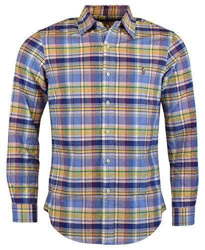 Polo Ralph Lauren Mens Flannel Plaid Button-Down Shirt Multi S