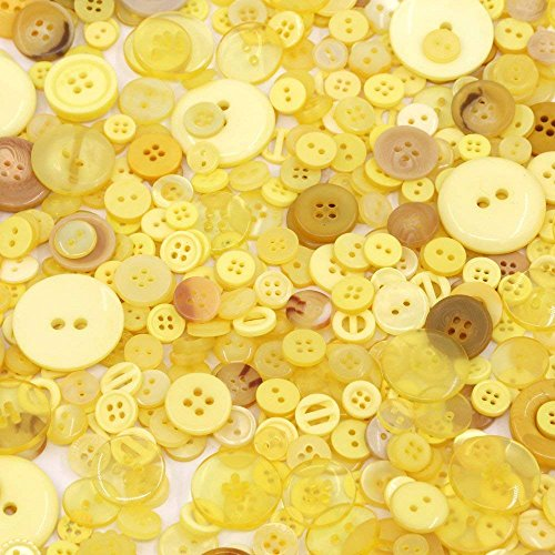 - Esoca 650Pcs Yellow Buttons for Craft Mixed Sizes Art Buttons Bulk Resin Buttons Yellow Favorite Findings Buttons for Arts, DIY Crafts, Decoration, Sewing