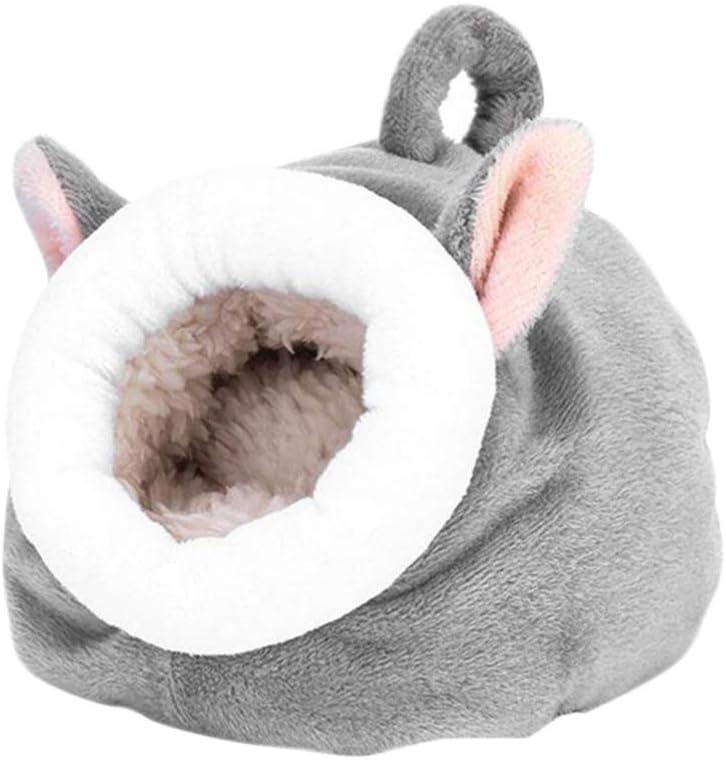 ibasenice Camas de Hámster Casas Y Escondites Pequeños Animales Mascota Cueva Cama Jaula Invierno Cálido Nido Accesorios para Hamster Erizo