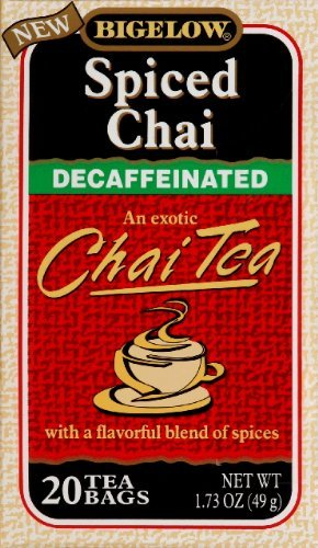 Bigelow Decaf Spiced Chai Tea Bags, 20 ct