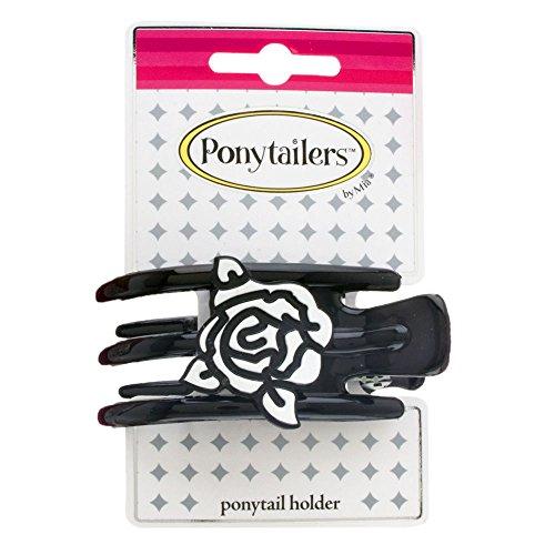 mia-ponytailers-ponytail-holder-model-no-00950-black-with-white-rose