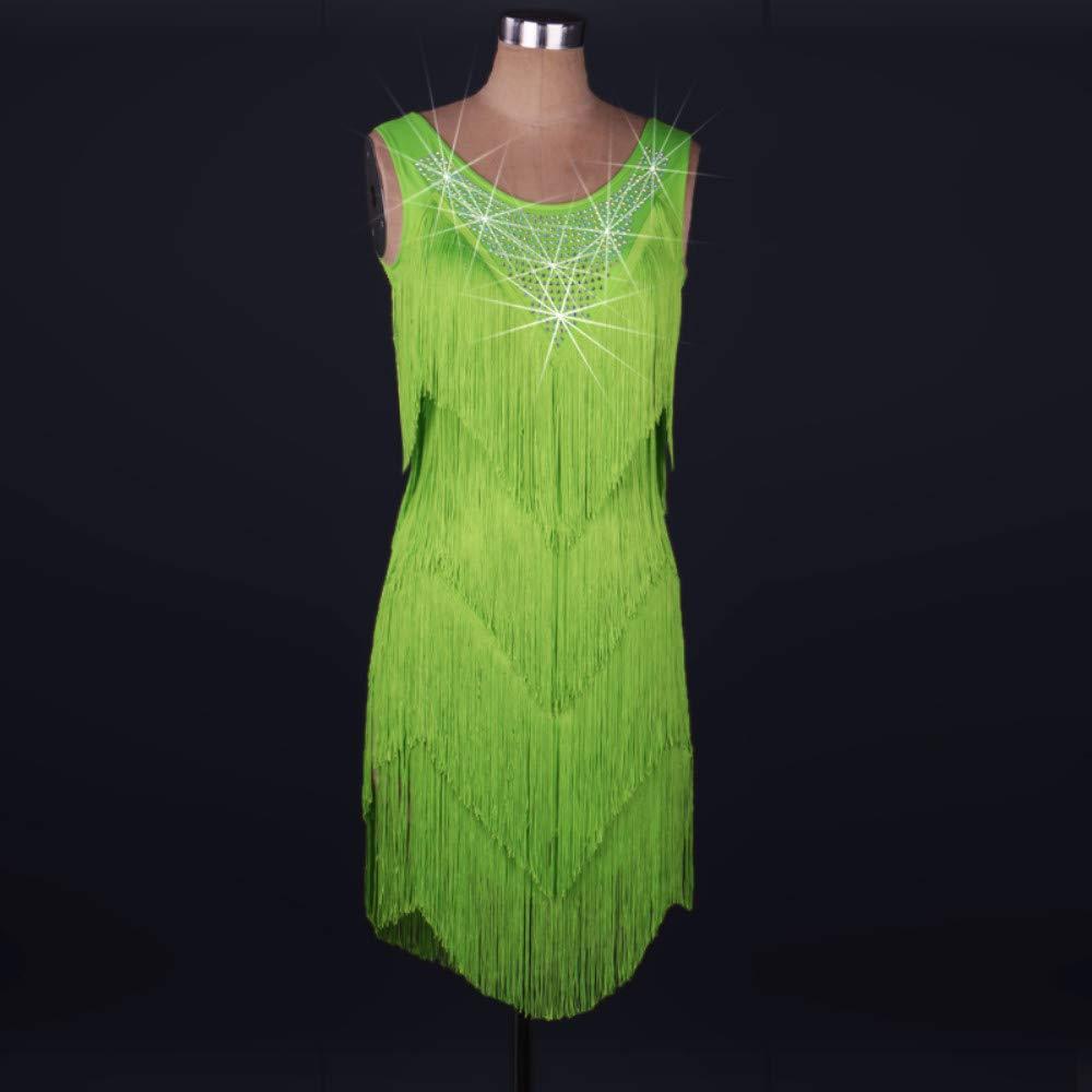 【おトク】 ラテンダンスドレス女性のパフォーマンススパンデックスタッセル結晶ラインストーンノースリーブドレスフェスティバルコスチューム B07P8KH2N8 Green XXL Green XXL Green Green B07P8KH2N8 XXL, ジュエリータカヤス:37dade76 --- a0267596.xsph.ru