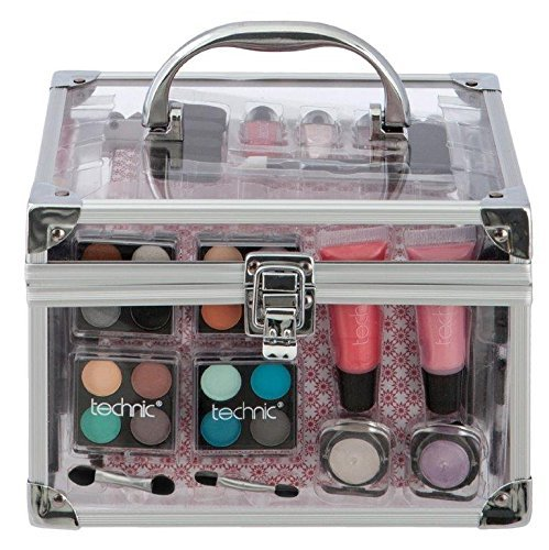 Technic Essential Cosmetics Medium Clear Carry Case Make-up Set by Technic Badgequo