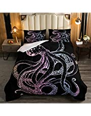 Feelyou 3D Print Music Themed Guitar Duvet Cover Set Kids Adults Bedding Set Decorative Microfiber Polyester Comforter Cover with 2 Pillow Shams, Zipper Closure, Twin Full Queen King Size, 3 Pieces