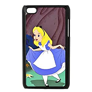 iPod Touch 4 Case Black Alice in Wonderland Character Alice as a gift H6001806