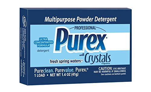 Purex Ultra Multipurpose Powder Detergent with Crystals Fragrance, 1.4oz Vend Pack (Pack of 156) - Powder Multi Purpose