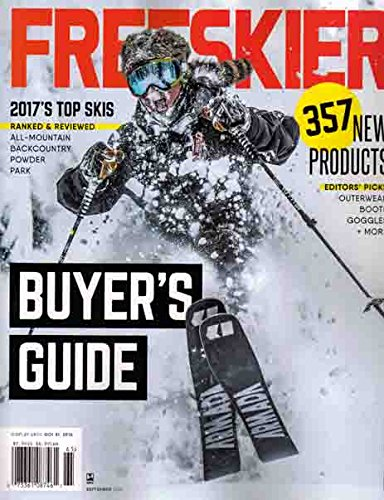 (FREESKIER, BUYER'S GUIDE SEPTEMBER, 2016 ( 2017 TOP SKIS * 357 NEW PRODUCTS ))