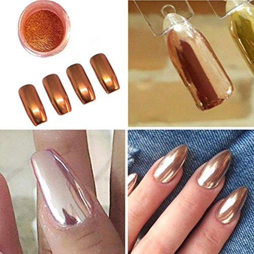 Creazy Sexy Rose Gold Nail Mirror Powder Glitter Chrome