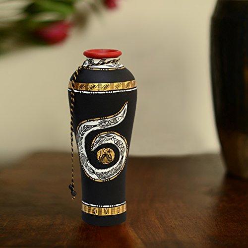 ExclusiveLane 12 Inch Terracotta Handpainted Madhubani Round