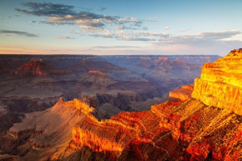 - Sunset Over South Rim of Grand Canyon National Park Photo Art Print Poster 36x24 inch