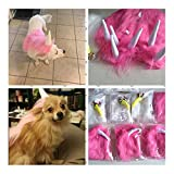 Homiego Funny Dog Unicorn Costume,Pet Unicorn Cape Mane Wig with Hood Costume for Halloween Christmas Festival Party (Pink)