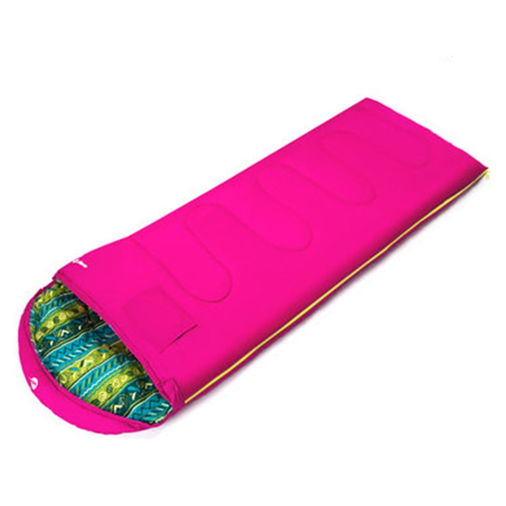 Pink Folding Chairs Sleeping Bag Adult Indoor Thick Warm Outdoor Camping Winter Viscera Feather Cotton Sleeping Bag 180  75 cm Suitable Temperature -5 °C -10 °C (color   bluee)