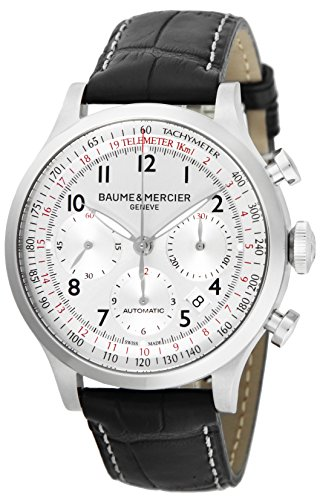 Baume & Mercier Capeland Silver Dial Automatic Chronograph Date Men Watch MOA10046