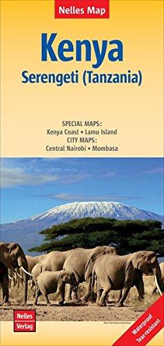 Kenya - Serengeti (Tanzania) Polyart-Ausgabe (Nelles Map)