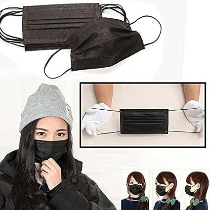 Black Masks Face Disposable Mouth 50pcs Mask - Anti-dust