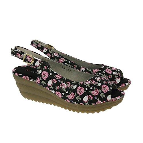 Heavenly Feet - Zapatillas de estar por casa de Material Sintético para mujer, color Azul, talla 39 1/3
