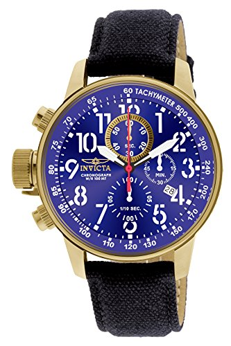 Invicta Men's 1516 I Force Collection 18k Gold Ion-Plated Stainless Steel and Cloth ()