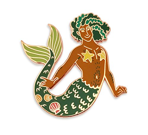 Pinsanity Green Merman Enamel Lapel Pin