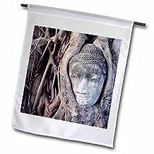 Danita Delimont - Buddhas - Thailand, Ayutthaya, Buddha head -AS40 JST0124 - Jay Sturdevant - 12 x 18 inch Garden Flag (fl_70813_1)