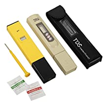 XCSOURCE Professional pH + TDS Meter Tester Set, Combo of ±0.1ph High Accuracy Ph Meter and ±2% Accuracy TDS Meter BI334